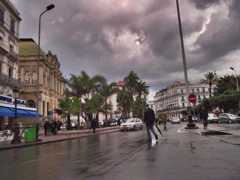 أمطار غزيرة على الولايات الداخلية