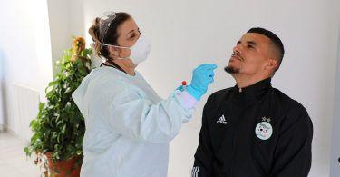 الخضر يخضعون لاختبارات الكشف عن فيروس كورونا (كوفيد19)